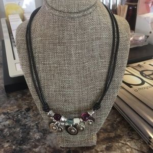UNO de 50 Jewelry - Uno de 50 Leather Necklace Beads and Pearl